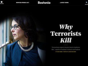 Portrait of Jessica Stern in Bostonia Magazine