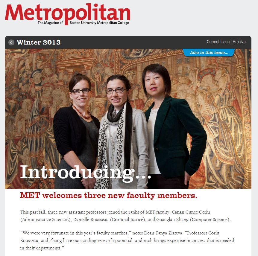 Three New Faculty